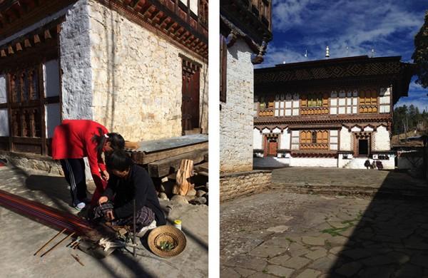 Bhutan weaving-house